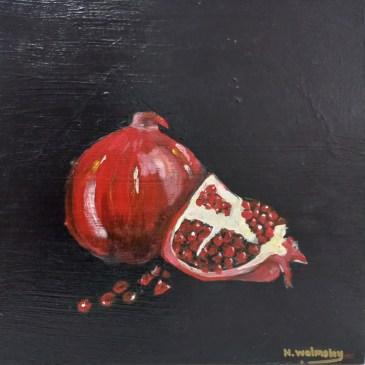 The Studio Art Gallery | 2021 Mandela Day Block Art Exhibition | Natalie Walmsly - Pomegranates
