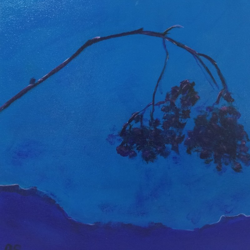 The Studio Art Gallery | 2021 Mandela Day Block Art Exhibition | Robyn Schoon - Blue Abstract 3