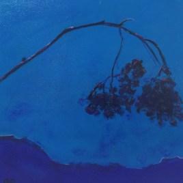 The Studio Art Gallery   2021 Mandela Day Block Art Exhibition   Robyn Schoon - Blue Abstract 3