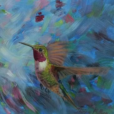 The Studio Art Gallery | 2021 Mandela Day Block Art Exhibition | Therese Mullins - Humming Bird