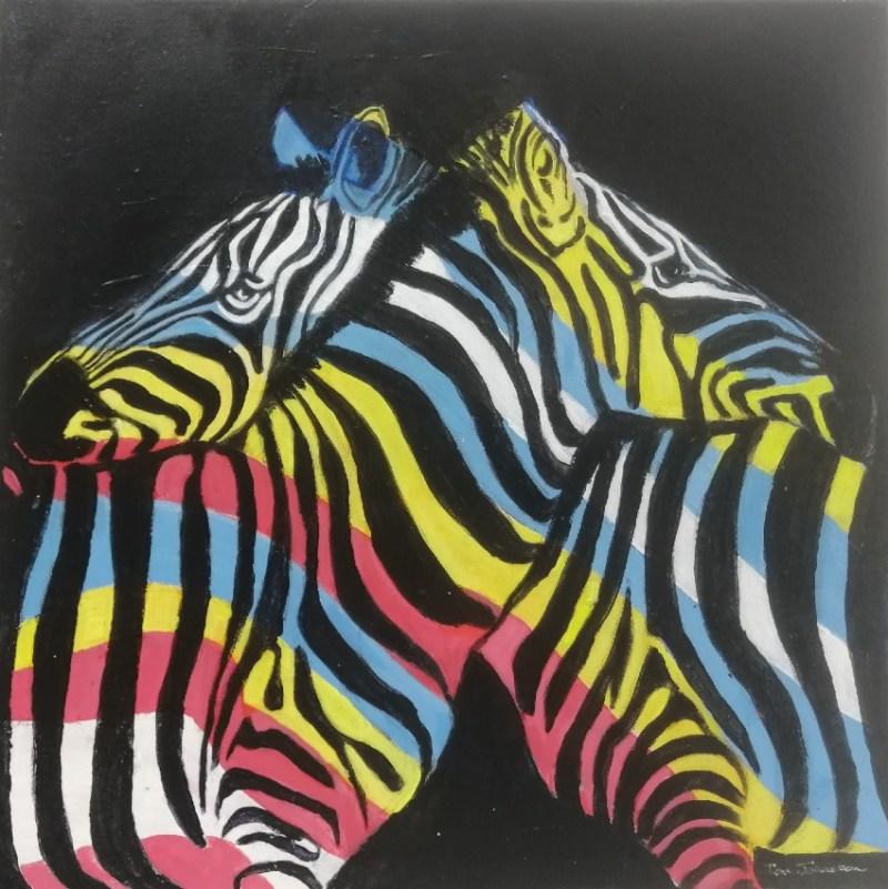 The Studio Art Gallery | 2021 Mandela Day Block Art Exhibition | Tom Johnston - A Friend In Need