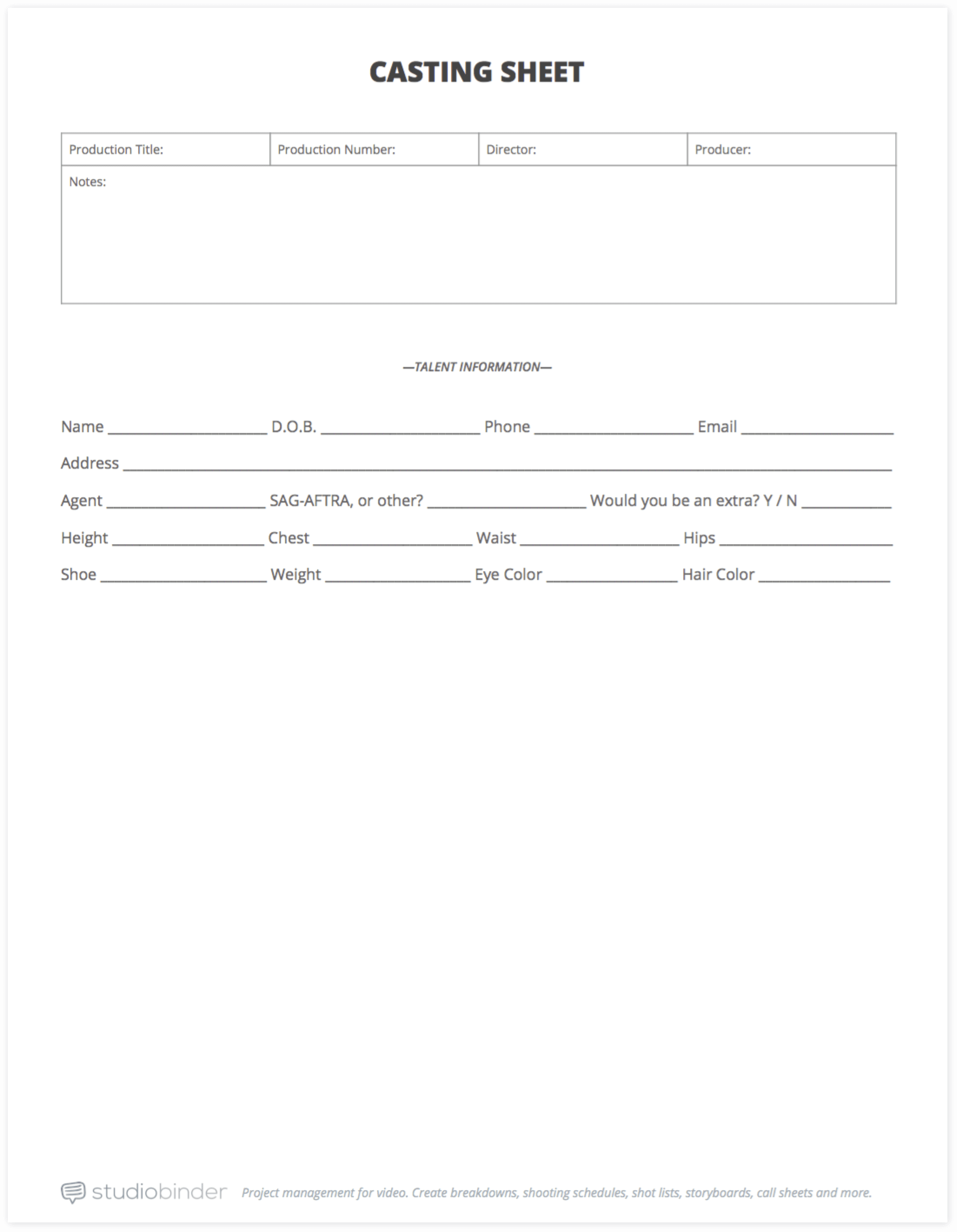 Appointment Sheet Template