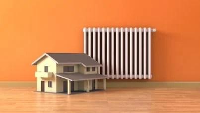 termosifone con modello casa