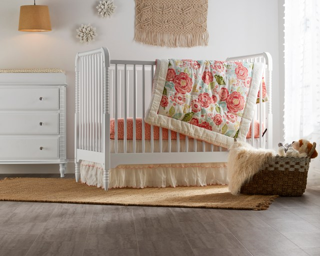 baby crib room setting