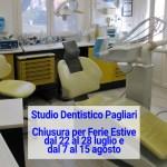Chiusura per Ferie Estive Studio Dentistico Pagliari