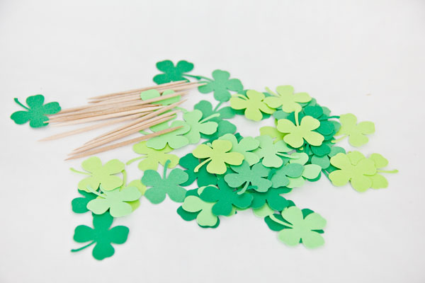 DIY Four Leaf Clover Cake Toppers