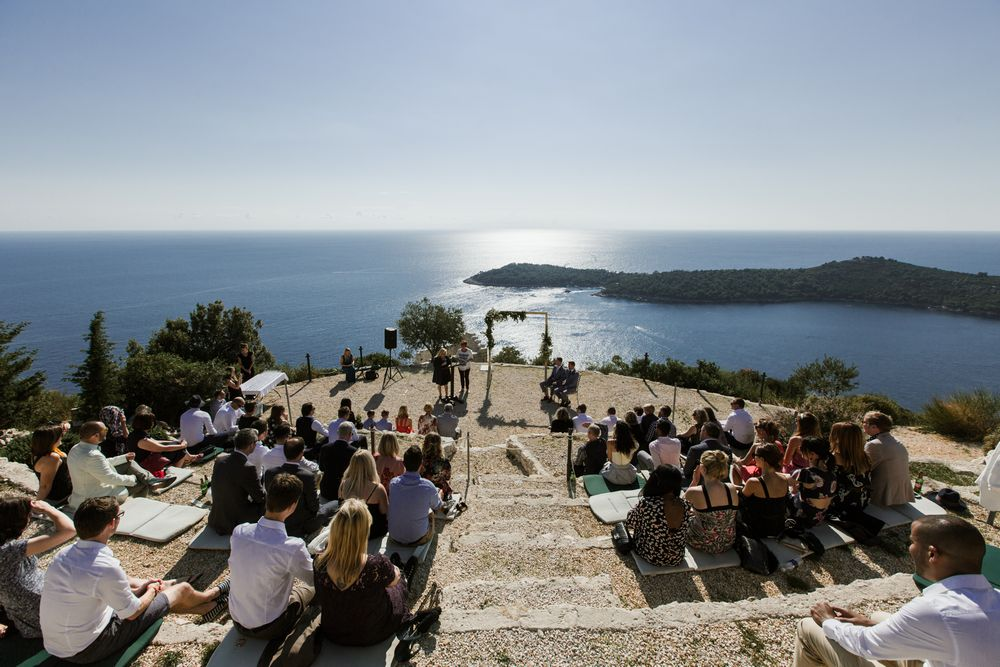 perfect scenery for intimate Gay destination wedding in Dubrovnik, Croatia Beautiful views of Park Orsula -