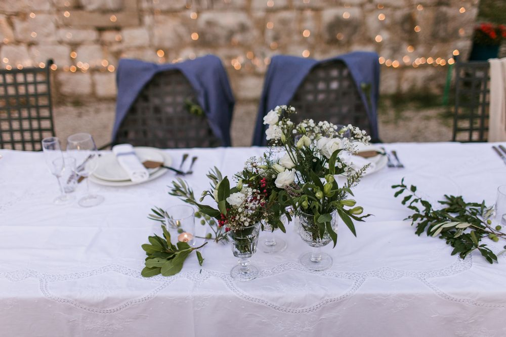 Details on the table Eon & Warrick's Gay destination wedding in Dubrovnik, Croatia