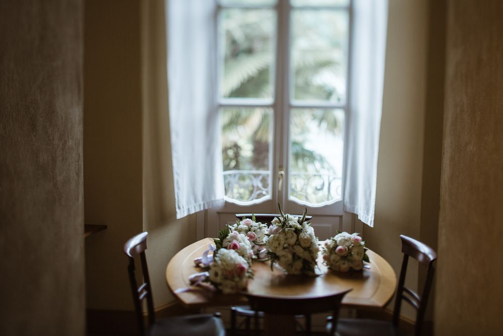 Lake Orta wedding details and wedding flowers captured by © Lake Como weddings
