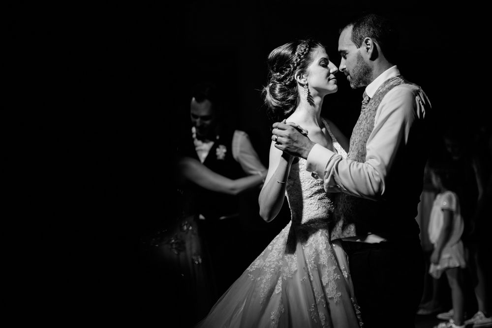 First dance of the wedding couple in Chur, Switzerland. Photography and Videography by DTstudio, Switzerland wedding photographer & videographer