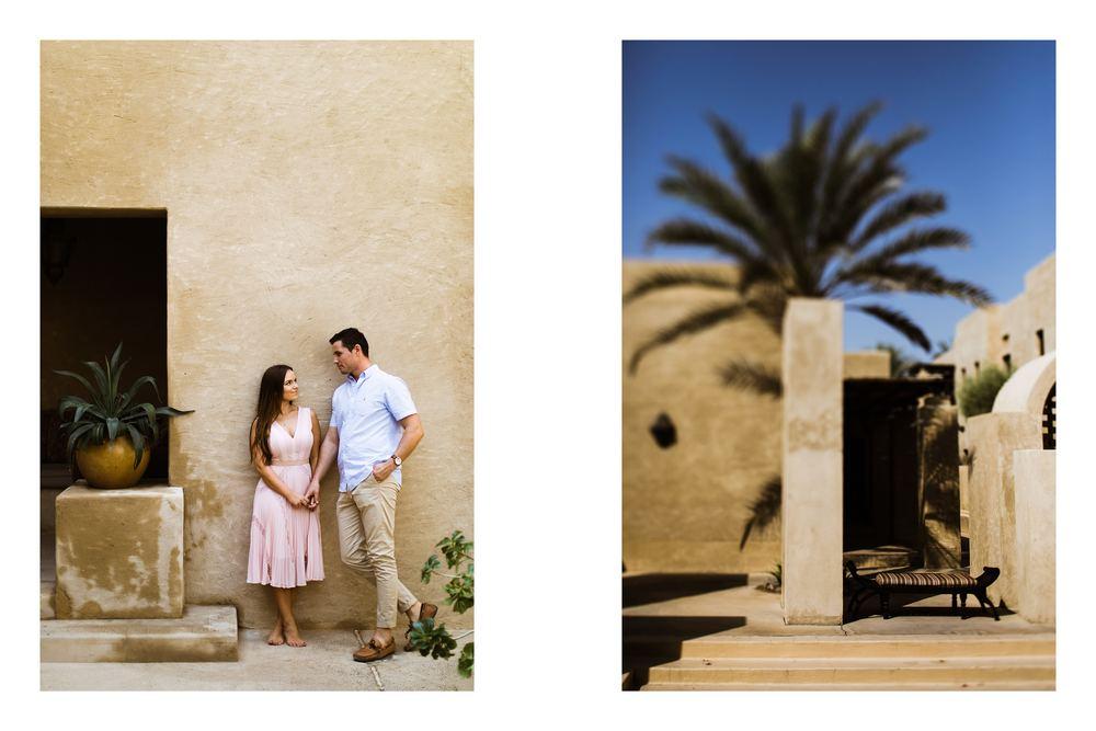 A desert session in Dubai desert resort captured by Dubai wedding photography