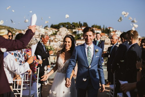 American couple's wedding on Hvar