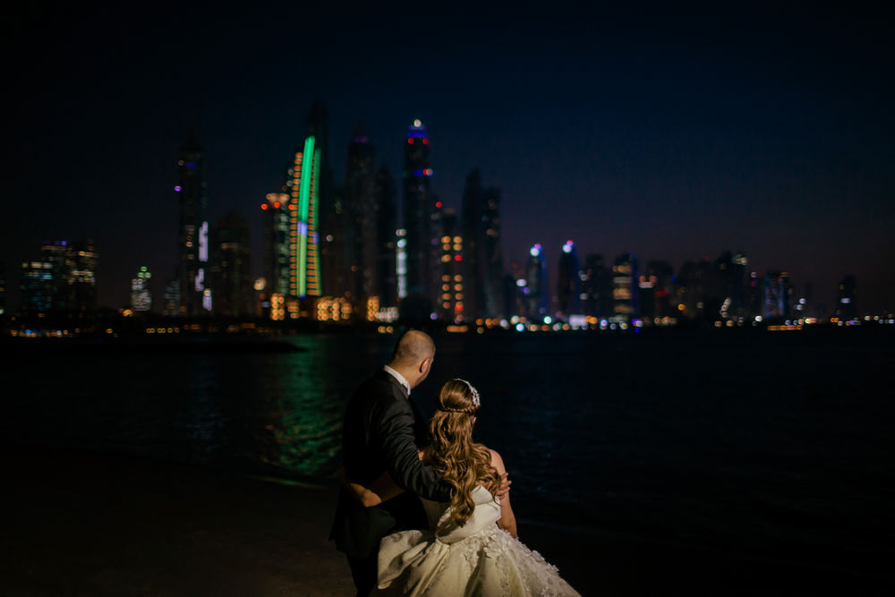 Modern Dubai weddings, Dubai beach weddings, Saudi weddings in Dubai captured by Dubai wedding videographer