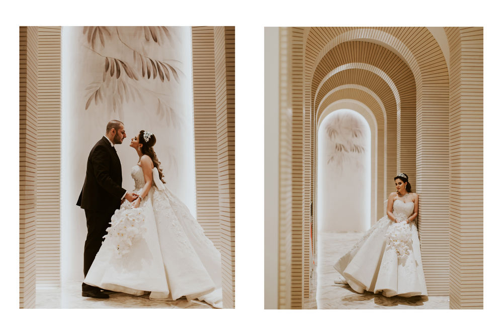 Saudi couple wedding in Dubai captured by Dubai wedding videographer