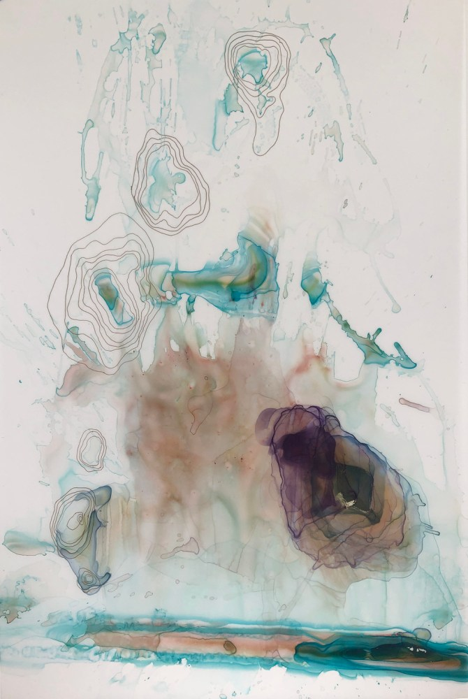 Kariann Fuqua, Contamination, 2019, mixed media artwork, studioELL FLATFILE