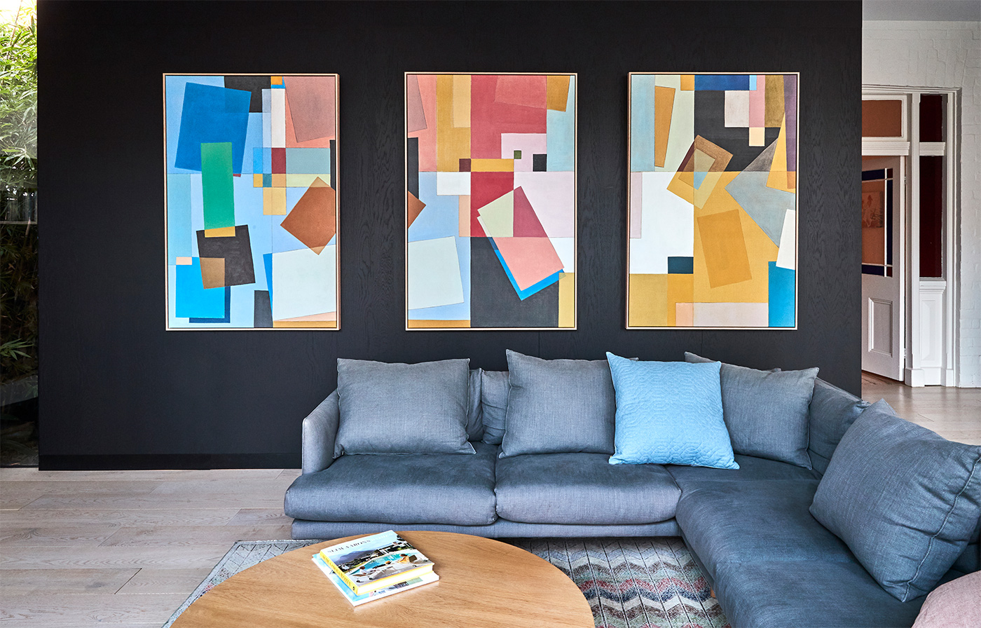 """Colour Play"" trio Art Prints on Canvas"