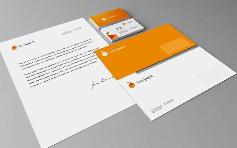 logo, papier firmowy, koperta, projekty gadżetów reklamowych, wizytówki dwustronne
