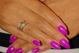 Flitsende paars met glitter