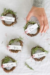 Wreaths : http://camillestyles.com/living/diy/rosemary-wreath-place-cards/