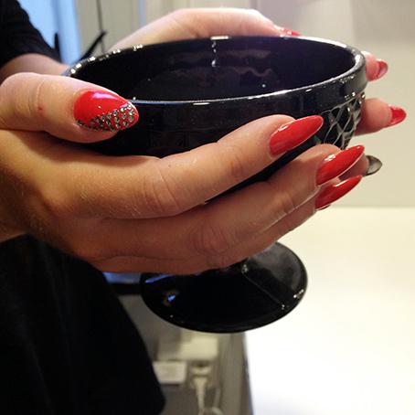 Nagelförlängning i akryl med gellack