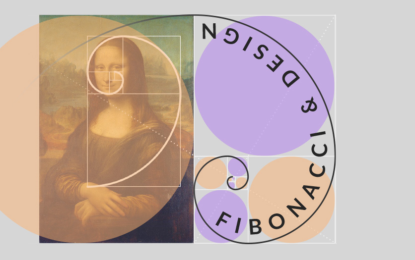 Fibonacci sequence and graphic design (and Mona lisa on the golden spiral