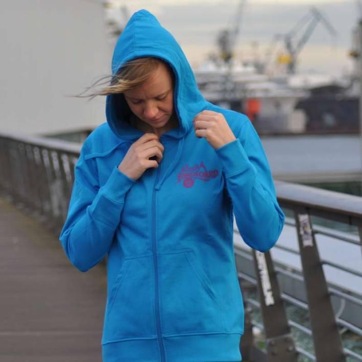 STUDIO LONGBOARD Ladies Zip Hoodie blue