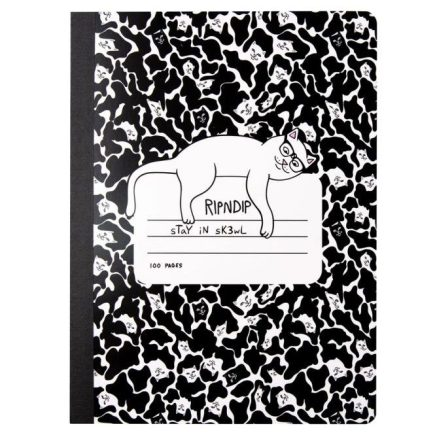 RIPNDIP Stay In Sk3wl Composition Notebook Black