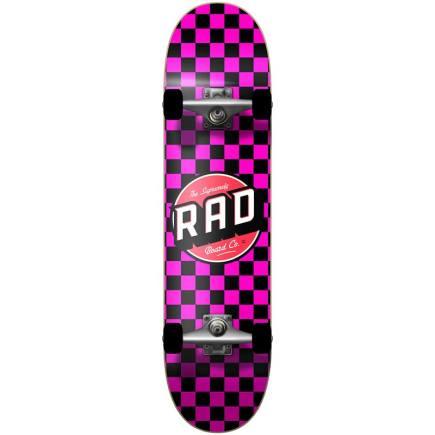 RAD Checkers Skateboard 7.75 pink
