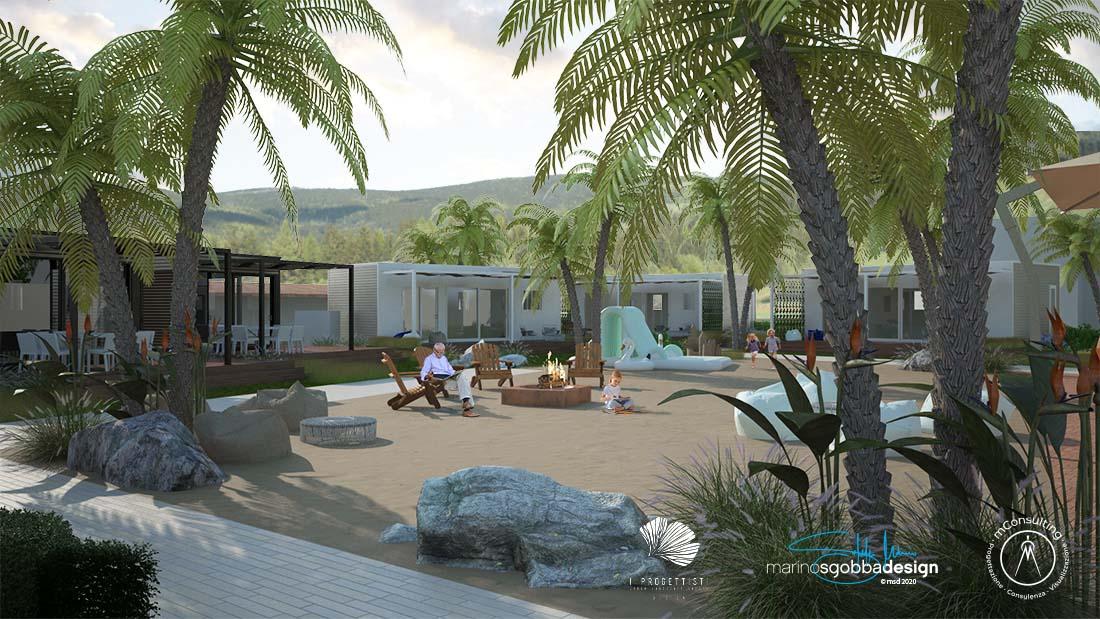 Rendering Le Palme Village Zona Spiaggia