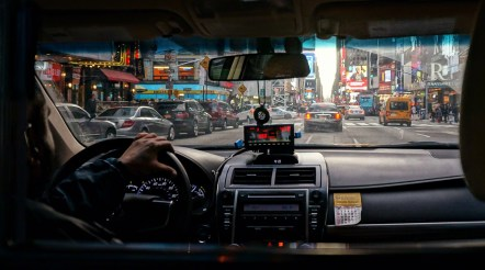 Cab Ride through Times Square