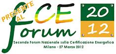 Presente al Secondo Forum Nazionale sulla Certificazione Energetica