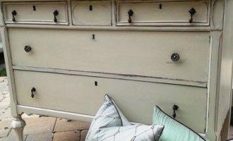 "Antique Refinished Old White Dresser ""Keaton"""