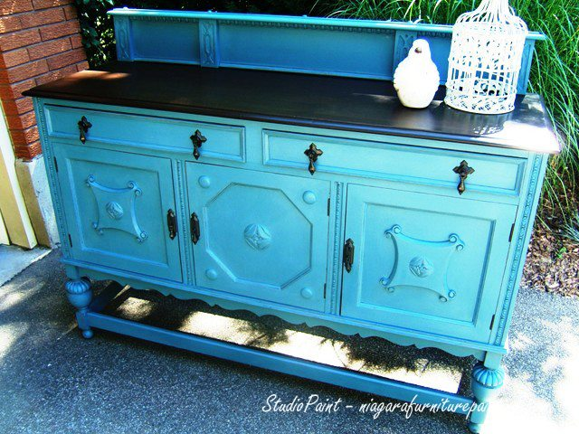 jacobean painted buffet