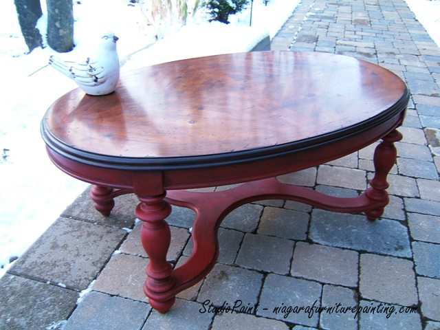 Super Red Painted Coffee Table Jerome Studio Paint Design Pabps2019 Chair Design Images Pabps2019Com
