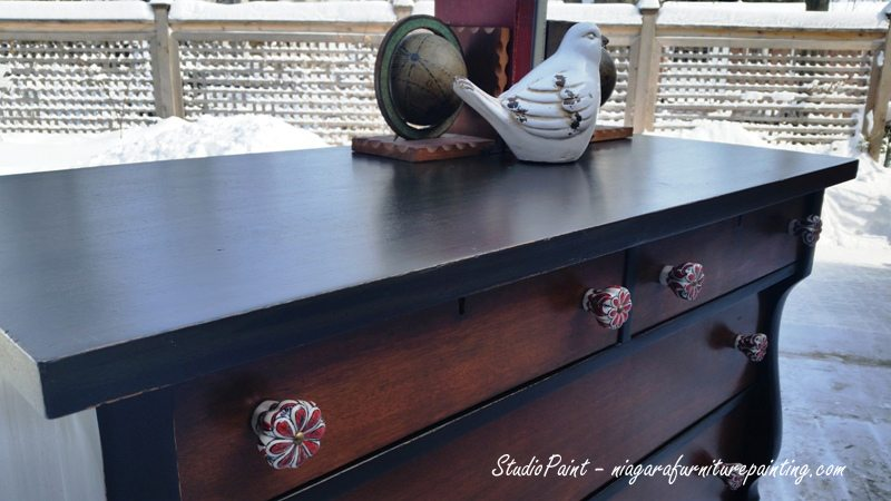 "Painted Empire Dresser-Fit for a ""Royal Oak"""