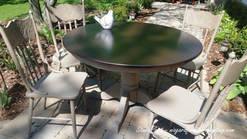 "Refinished Oak table  ""Simcoe"""