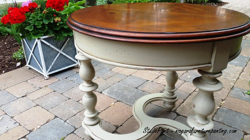 painted end tables
