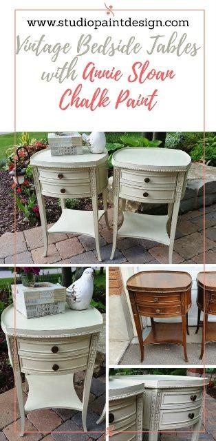 vintage bedside tables