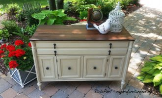 """Mid century Painted Buffet """"Crystal"""""""