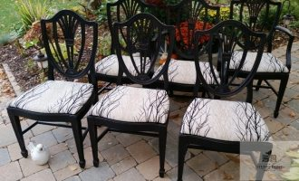 """Painted Lamp Black Dining Chairs """"Stacey"""""""