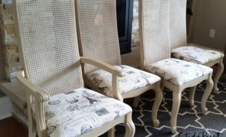 """Painted Cane Back Chairs """"Edgemont"""""""