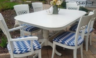 "Painted Porch Dining Table Set for ""Barb"""