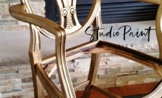 Golden Duncan Phyfe Style Dining Chair