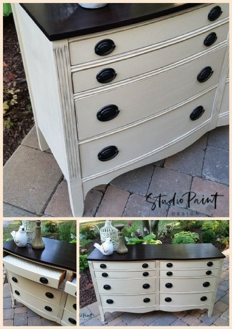 Eight Drawer Painted Malcolm Dresser