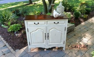 "Painted Hallway Cabinet ""Beverly"""