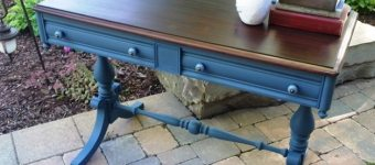 "Painted Malcolm Sofa Table Desk ""Parkway"""