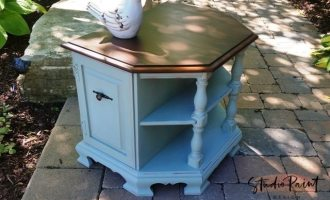 "Painted Maple End Table ""Dune Grass"""