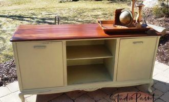 "Painted TV Media Console ""Village Green"""