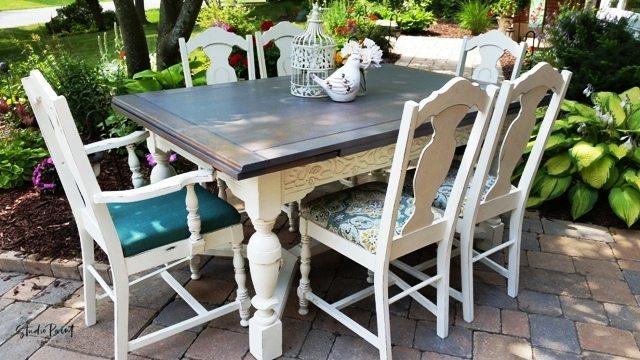 Painted Farmhouse Dining Set Quot Melissa Quot Studio Paint Design