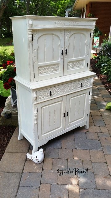 Painted Antique Hutch